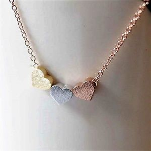 Jewelry - RG_Three Heart Pendant With a  Rose Gold Chain